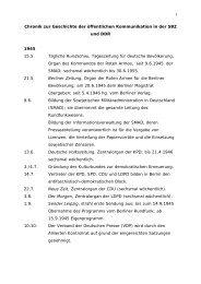 Chronik zur Geschichte der öffentlichen Kommunikation in der SBZ ...