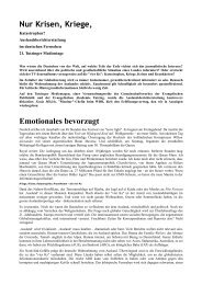 Krisen und Kriege - Evangelische Akademie Tutzing