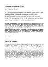 Weltbürger: Die Kinder der Manns - Evangelische Akademie Tutzing
