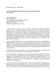Festrede zum 50jährigen Bestehen der Evangelischen Akademie ...
