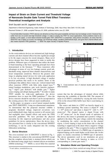 Impact of Strain on Drain Current and Threshold Voltage of ...