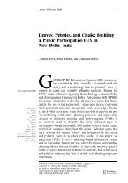 Leaves, Pebbles, and Chalk: Building a Public Participation GIS in ...