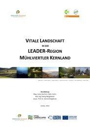 vitale landschaft in der leader-region mühlviertler kernland