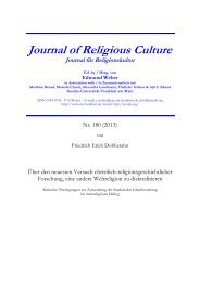 Journal of Religious Culture - Goethe-Universität
