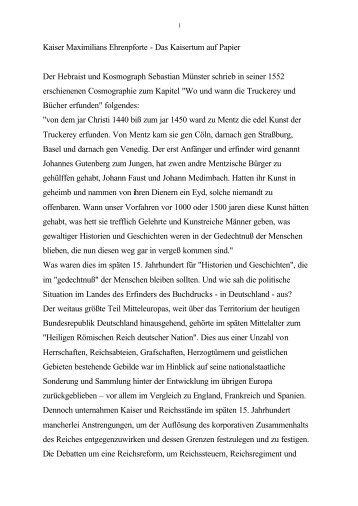 Kaiser Maximilians Ehrenpforte - Das Kaisertum auf Papier Der ...