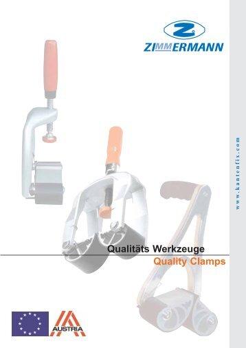 Quality Clamps Qualitäts Werkzeuge