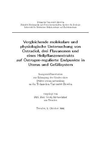 Vergleichende molekulare und physiologische Untersuchung von ...