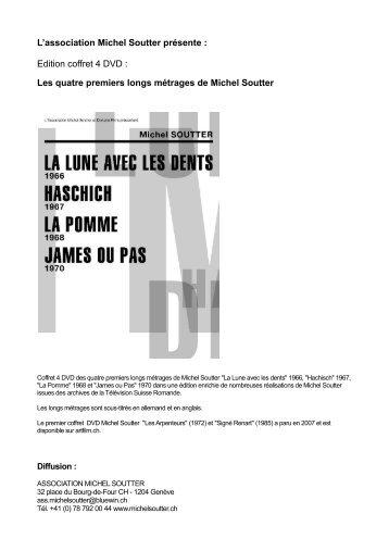 Les quatre premiers longs métrages de Michel Soutter