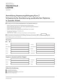 Anmeldung - Weiterbildung.hslu.ch - Hochschule Luzern