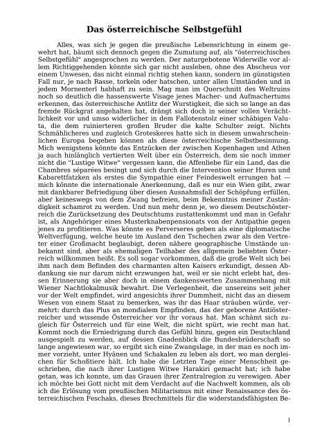 Das österreichische Selbstgefühl - Welcker-online.de