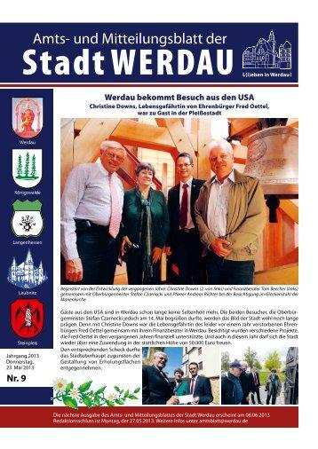 Amtsblatt Werdau 2013-05-23.pdf - Stadt Werdau