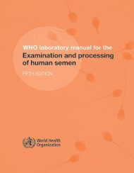 Examination and processing of human semen - libdoc.who.int ...