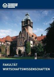 Fakultätsbroschüre - Fakultät Wirtschaftswissenschaften