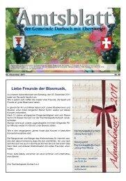 Liebe Freunde der Blasmusik, - Durbach