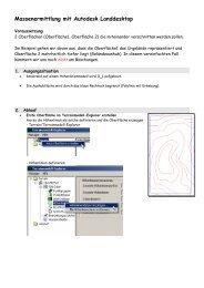 Böschungsverschneidung mit Autodesk Landdesktop - CAD.de