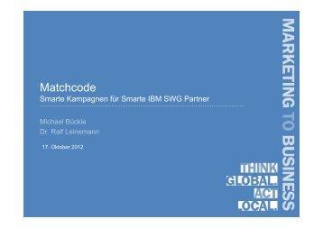 Smarte Kampagnen Okt 2012 - IBM