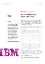 Zusammenfassung der Studie in Deutsch (1,13MB) - IBM