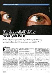 Hacken als Hobby war gestern - IBM