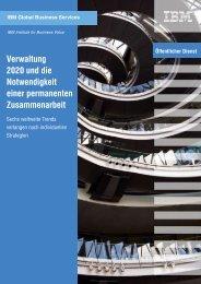 Verwaltung 2020 und die Notwendigkeit einer permanenten ... - IBM