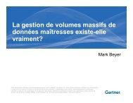 La gestion de volumes massifs de données maîtresses existe ... - IBM
