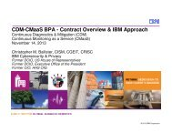 CDM-CMaaS BPA - Contract Overview & IBM Approach