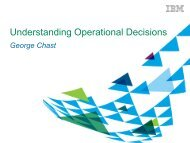 George Chast - Understanding Operational Decisions - IBM