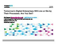 Tomorrow's Digital Enterprises Will Live or Die by Their ... - IBM