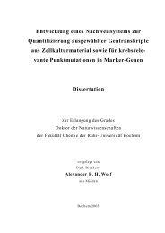 Entwicklung eines Nachweissystems zur Quantifizierung ...