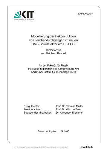IEKP-KA/2013-4 - Institut für Experimentelle Kernphysik - KIT