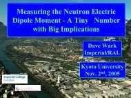 Measuring the Neutron Electric Dipole Moment - A Tiny Number with ...