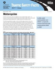 2011 Data: Motorcycles - National Highway Traffic Safety ...