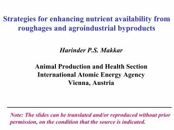 Strategies for enhancing nutrient availability from roughages and ...