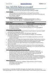 Das ISO/OSI-Referenzmodell - Jurijs Skripte