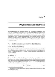 Physik massiver Neutrinos - Desy
