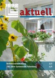 Vertreterversammlung 2/3 100 Jahre Gartenstadt Falkenberg 4/5