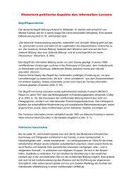 Historisch-politische Aspekte des informellen Lernens - Lernen im 2 ...