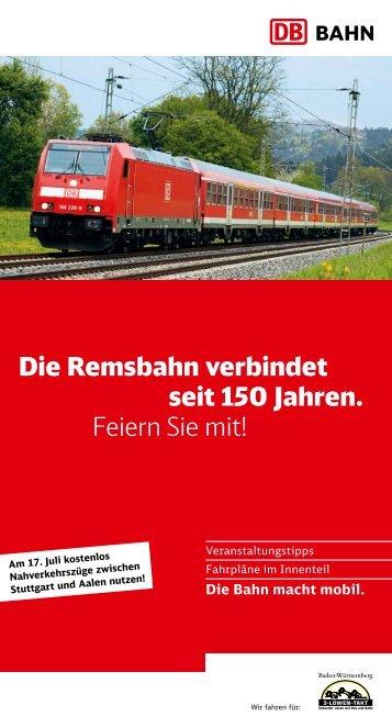 150 Jahre Remsbahn - Flyer