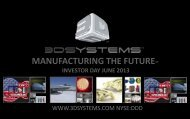 Investor Day - 3D Systems