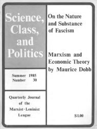 On the Nature and Substance of Fascism Marxism and Economic ...