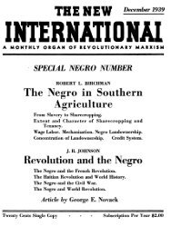 The Negro in Southern Agriculture Revolution and the Negro