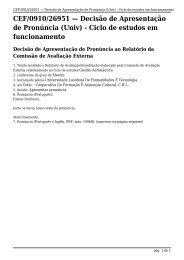 (Univ) - Ciclo de estudos em funcionamento - A3ES