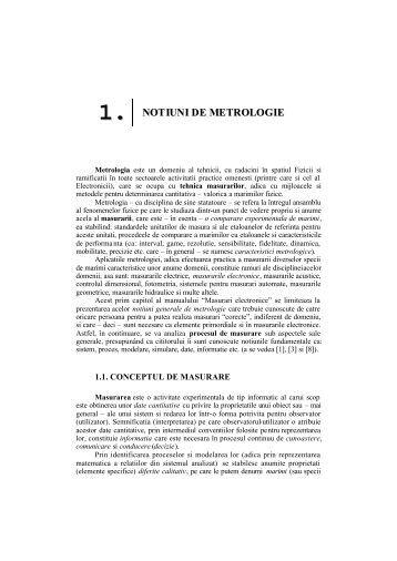 Capitolul 1 - Notiuni de Metrologie