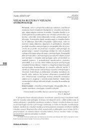vizualna kultura v vizualni antropologiji - Univerza v Ljubljani