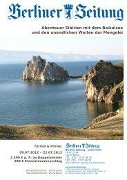 Abenteuer Sibirien mit dem Baikalsee und den unendlichen Weiten ...