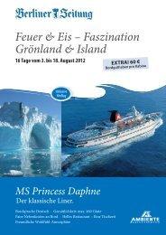 Feuer & Eis – Faszination Grönland & Island - Leserreisen - Berliner ...