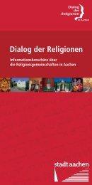 Broschüre zum Dialog der Religionen - Stadt Aachen