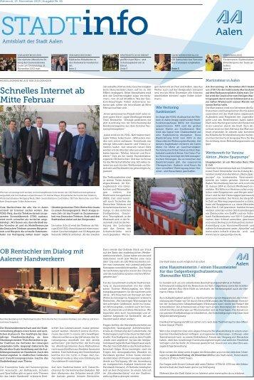 """""""Stadtinfo"""" 46. Kalenderwoche - 13. November 2013 ... - Stadt Aalen"""