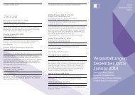 Veranstaltungsprogramm Dezember 2013 / Januar 2014 - Stadt Aalen