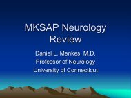 MKSAP Neurology Review