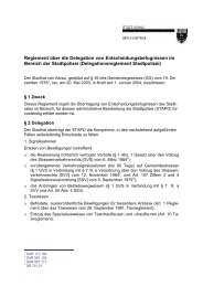 Delegationsreglement Stadtpolizei - Aarau